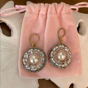 Handmade Dangle Beaded Earrings